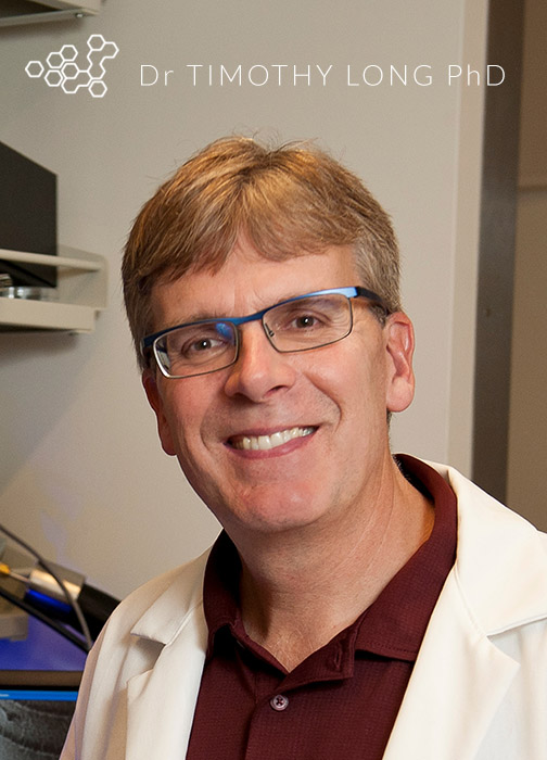 Dr. Timothy E. Long, Professor of Chemistry, and Macromolecules and Interfaces Institute member.